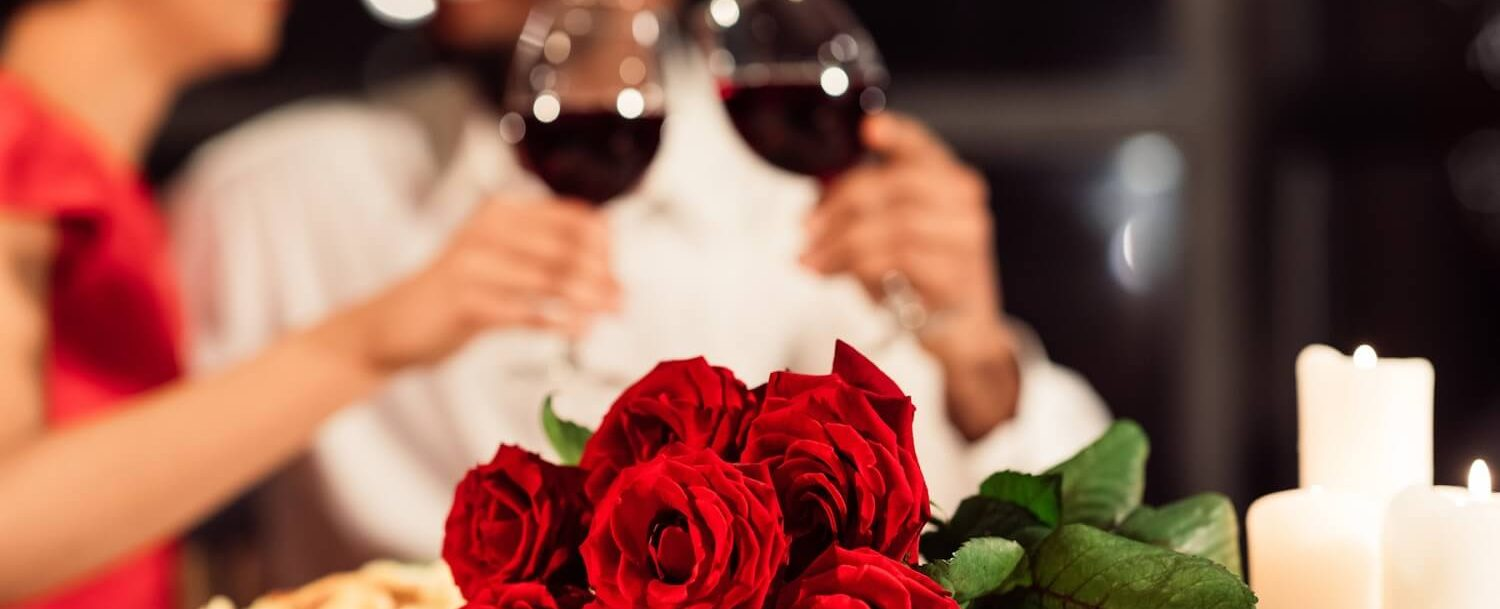 Roses Wine Couple