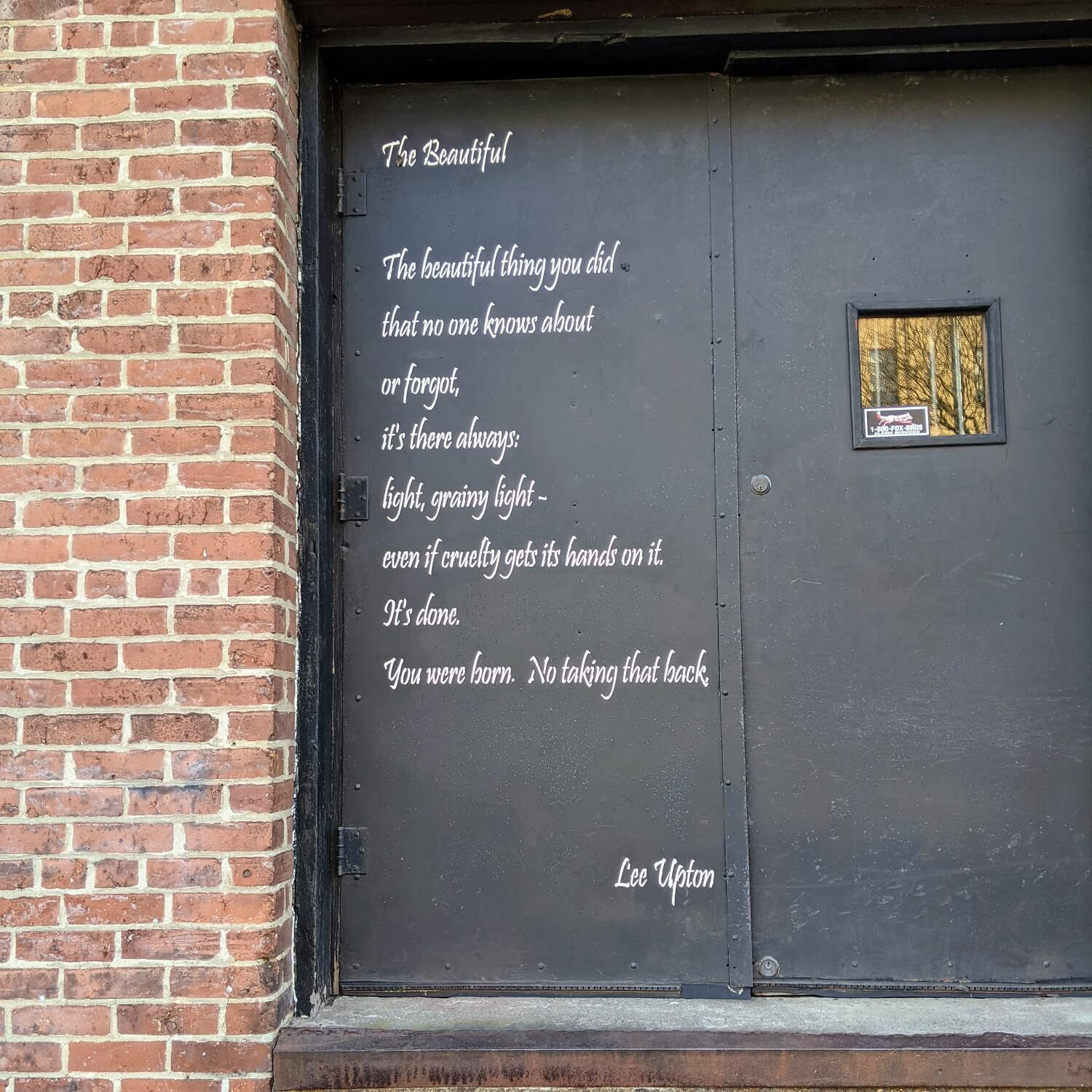 Wall Poems in Easton PA
