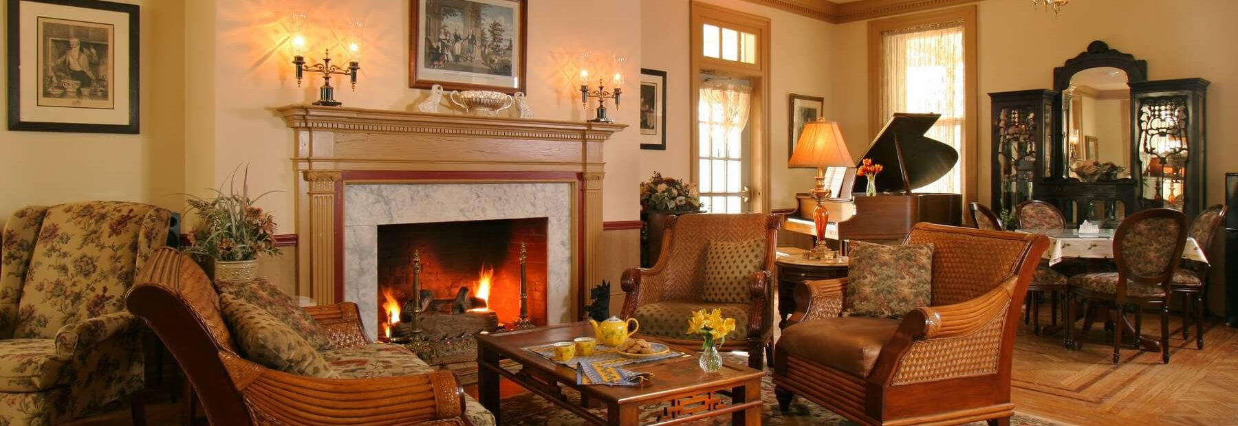 The Lafayette Inn Fireplace
